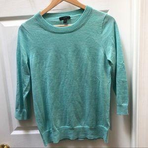 J. Crew Aqua Blue Tippi Sweater